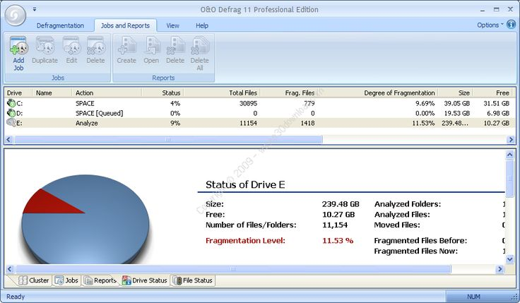 Oo defrag 10.0 build 1634