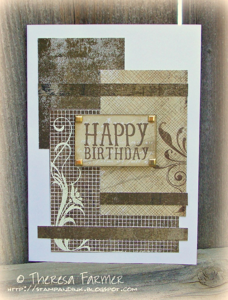 Masculine Card Making Ideas Part - 17: Recently, My Husband Asked Me To Make A Couple Of Masculine Birthday Card  To Send To Friends. Iu0027m Not Sure Why, But Masculine Cards Continue.