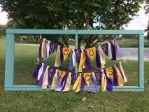 SEC LSU Tigers purple and gold Geaux Tigers rag banner for tailgate, dorm, home decorating.