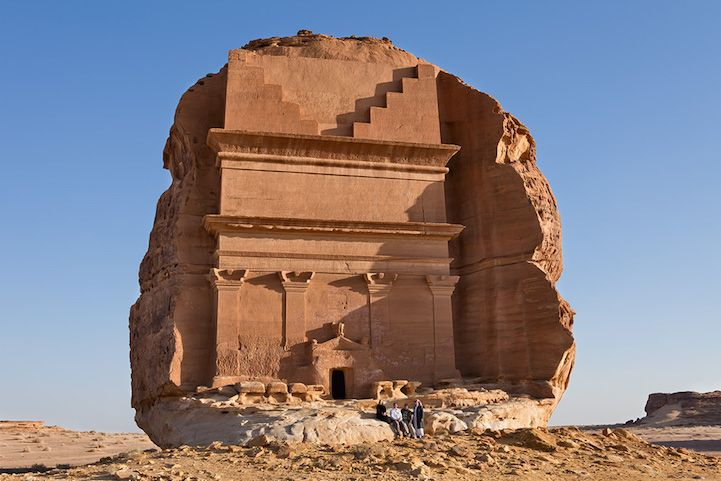 Ancient Tomb Chiseled From a Solitary Rock in Saudi Arabia - My Modern Met
