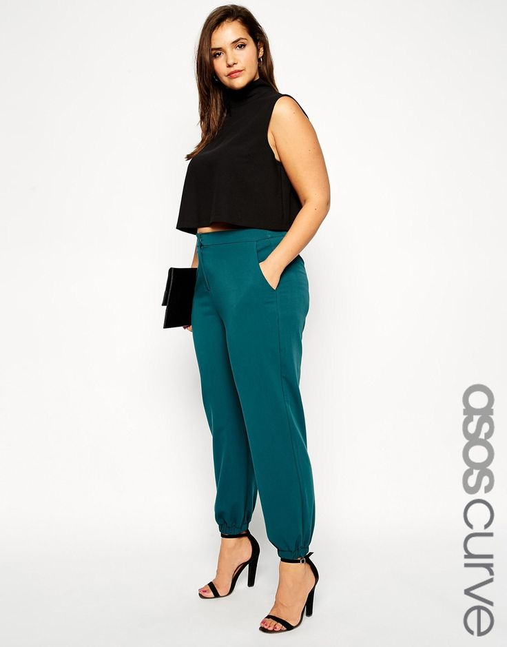$26 ASOS+CURVE+Trouser+With+Elastic+Cuff