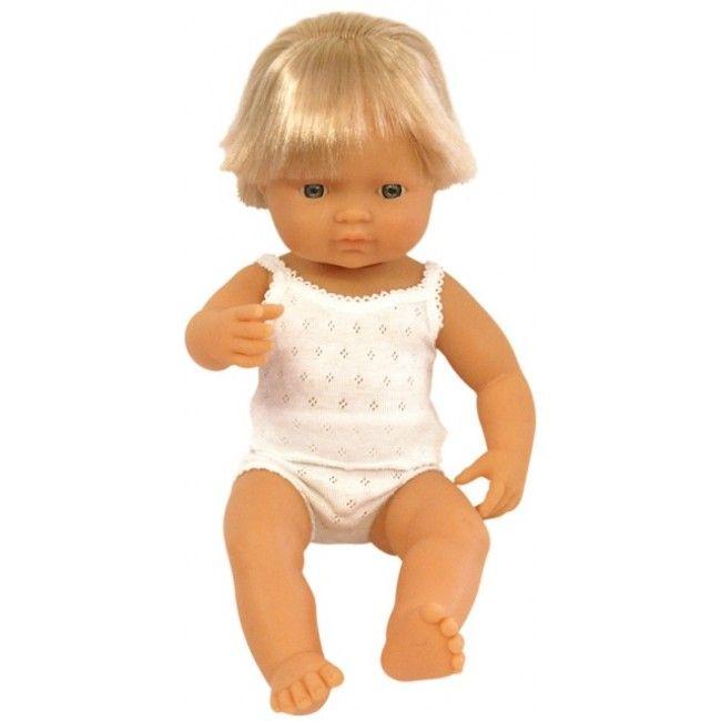 Miniland - Doll Caucasian Boy 38cm