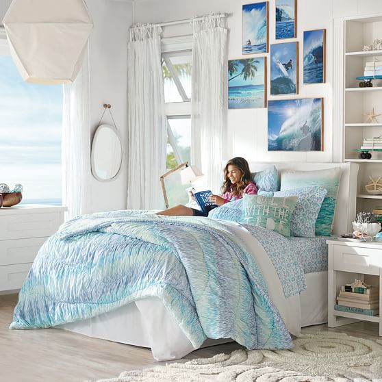 Kelly Slater Organic Trestles Ruched Quilt + Sham | PBteen. Teenage BedroomsTeenage  Beach ...