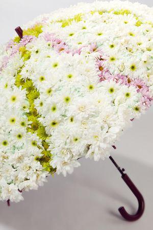 En zo blijf droog in de regen :) JustChrys - Inspiratie: verrassende chrysanten arrangementen voor de slimme en creatieve bloemist!
