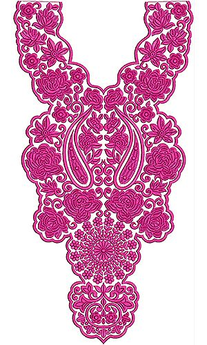 Latest Walima Dresses Embroidery Neck Design. Embdesigntube.com.Espectacular!!! Hay millones de bordados para ropa!!! Sino entrar por Marjolein Griffioen.