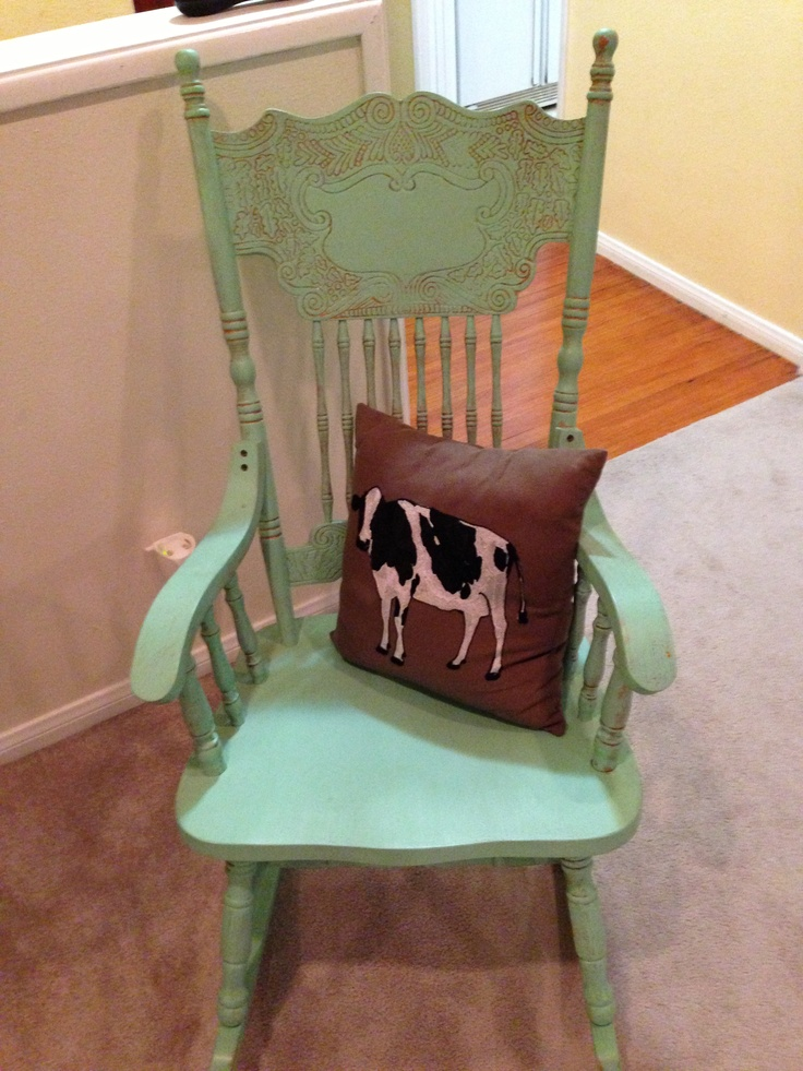 how to paint an old rocking chair 2