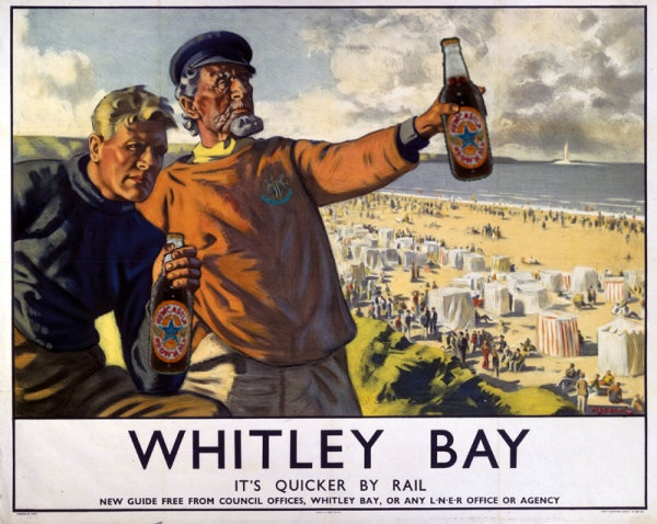 Whitley Bay--It's Quicker by Rail