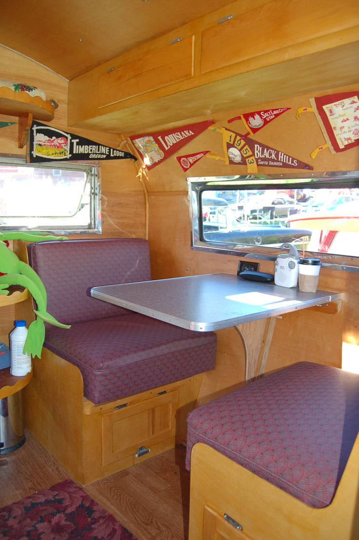 Retro camper curtains - Vintage Trailers Imagaes Vintage Trailer Interiors From The 1940 S From Oldtrailer Com