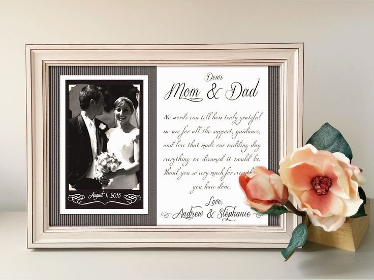 Thank You Gifts For Parents At Wedding: Best 25+ Parent Wedding Gifts Ideas On Pinterest