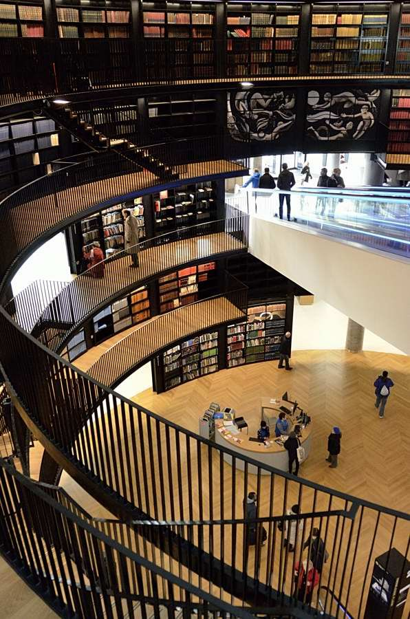 View inside the new Library of Birmingham, UK