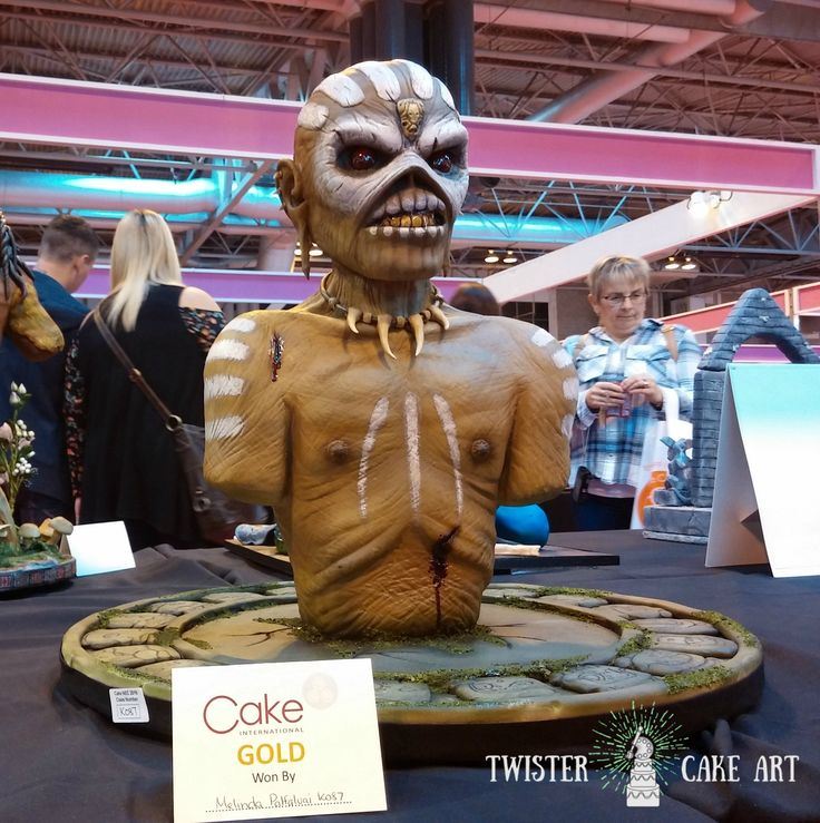 Cake international, Birmingham gold award winner iron maiden Eddie cake, Decorative exhibit class