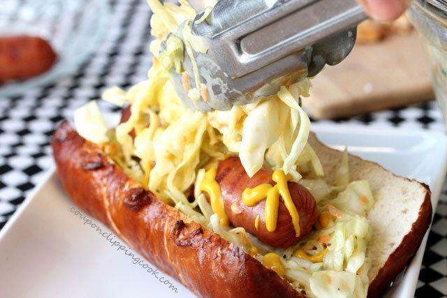 Honey Mustard Slaw Dog