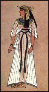 Sandalias con suela de cuero, papiro o madera y se ataban con cordones de cuero, metal o fibras de plantas