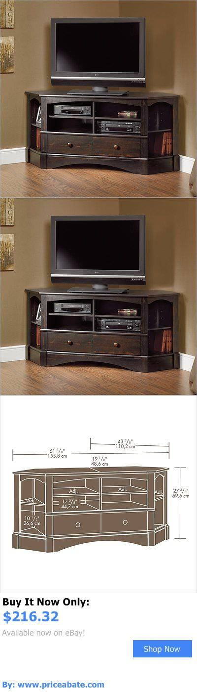 Entertainment Units TV Stands: Entertainment Center Metal Corner Harbor View Tv Stand In Antiqued Black BUY IT NOW ONLY: $216.32 #priceabateEntertainmentUnitsTVStands OR #priceabate