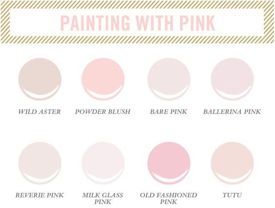 Pink paint colors for little girls room