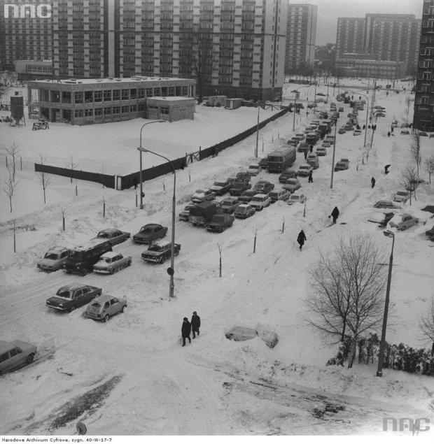 Ulica Grzybowska w Warszawie, 1973 r.