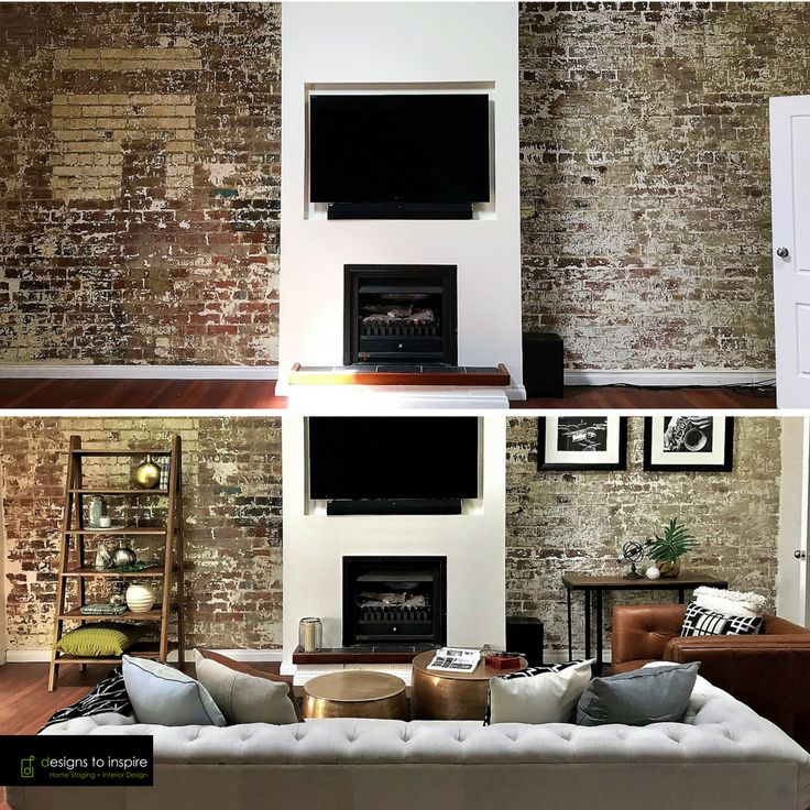 Even the most beautiful of spaces can be transformed with styling #designstoinspire #livingroom #redbrick #living #manhattanstyle