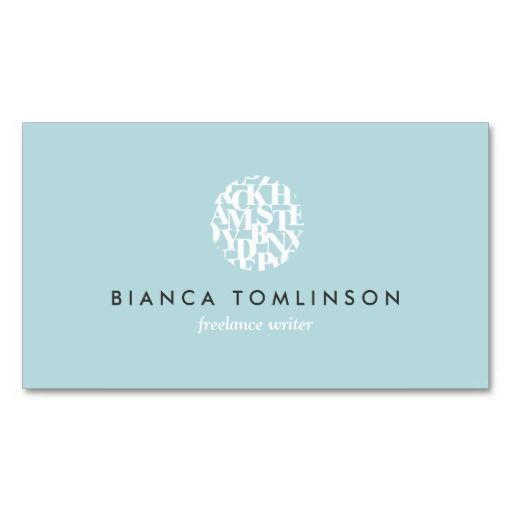 68 best authors and writers business cards images on pinterest modern letterform logo iv for authors and writers business card reheart Images