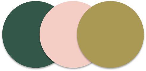 Hunter/Green, Blush, Gold/Copper