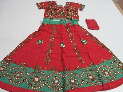Kids Ghagra Choli Dress Lengha Chania choli garba dress dance dress dandiaT-52