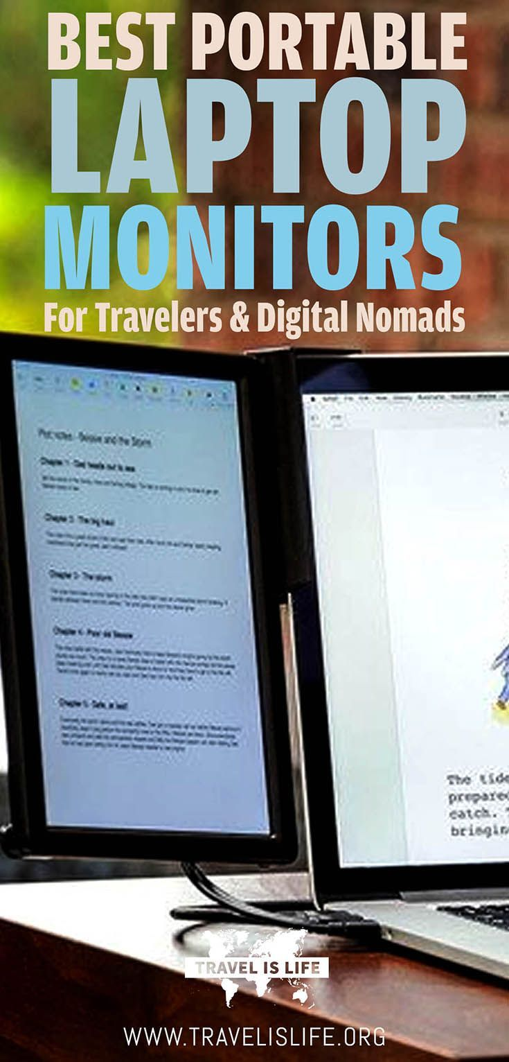 Best Top Rated USB Powered Monitors Lightweight and Portable For Working Travelers & Digital Nomads | Secondary Laptop Monitors | Travel Computer Screens | Computer Gear for Digital Nomads | Travel Gadgets for Digital Nomads | Brought to you by TravelisLi