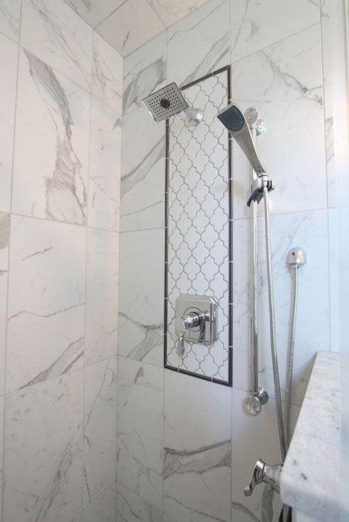 marble look porcelain tile in