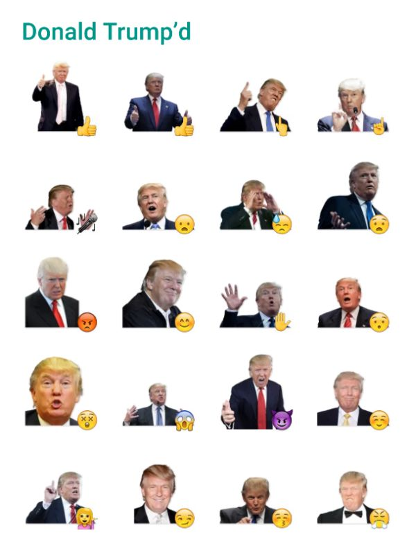 Donald Trumpd Sticker Pack #Telegram #Stickers