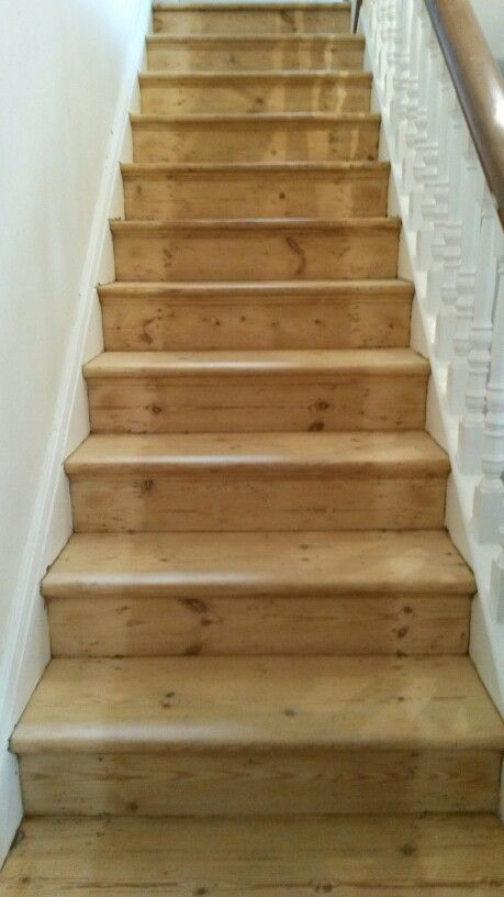 Restored victorian pine stairs