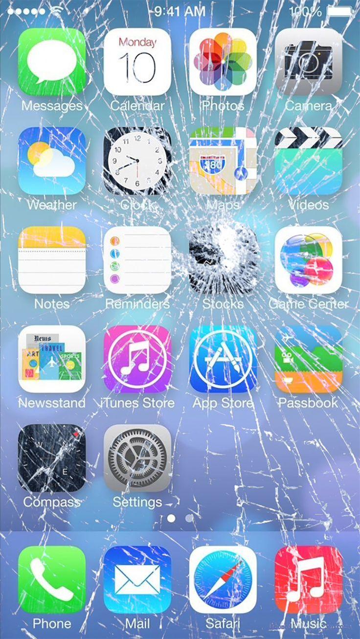 Cracked Phone Screen Wallpaper