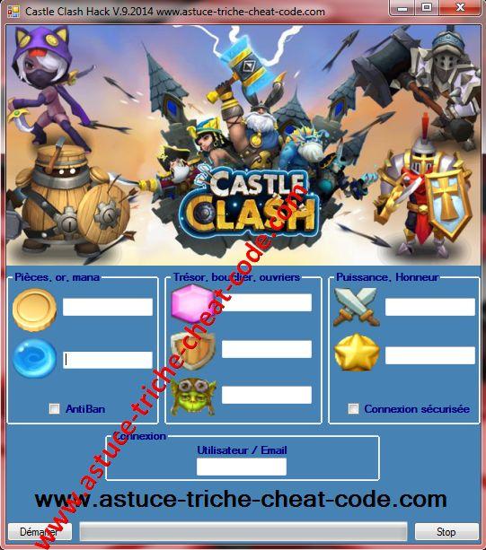 Castle Clash Triche Code de Tricherie pour iOS – Android ou PC