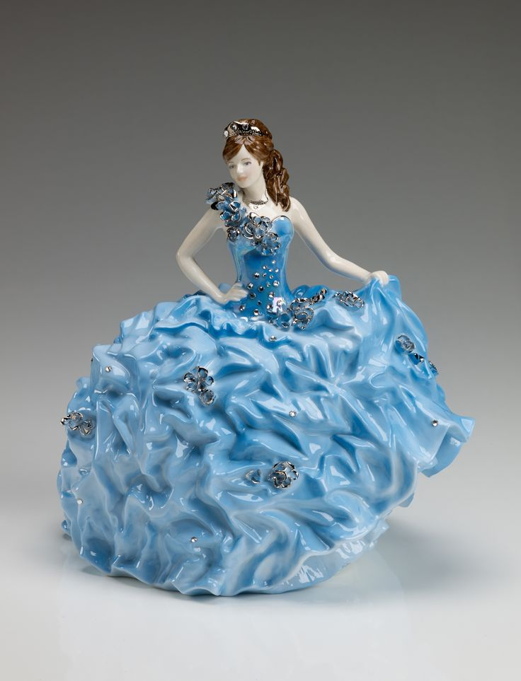 """I'm so proud to introduce, """"Crystal Bride by Sondra Celli""""!  This gorgeous porcelain, inspired by one of my gypsy wedding dress designs, was produced by Royal Staffordshire, the U.K.'s prestigious producer of collectible figurines. This limited edition figurine features Swarovski crystals, is hand-numbered, and comes with a certificate of authenticity.  Order now: www.comptonandwoodhouse-us.com or Amazon.com #gypsywedding #bling #bride #SondraCelli"""