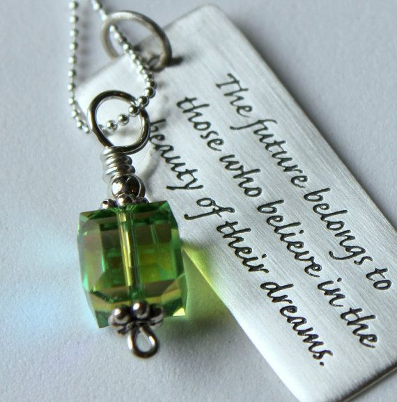 Jewelry With Quotes Personalized High School by whiteliliedesigns, $41.00