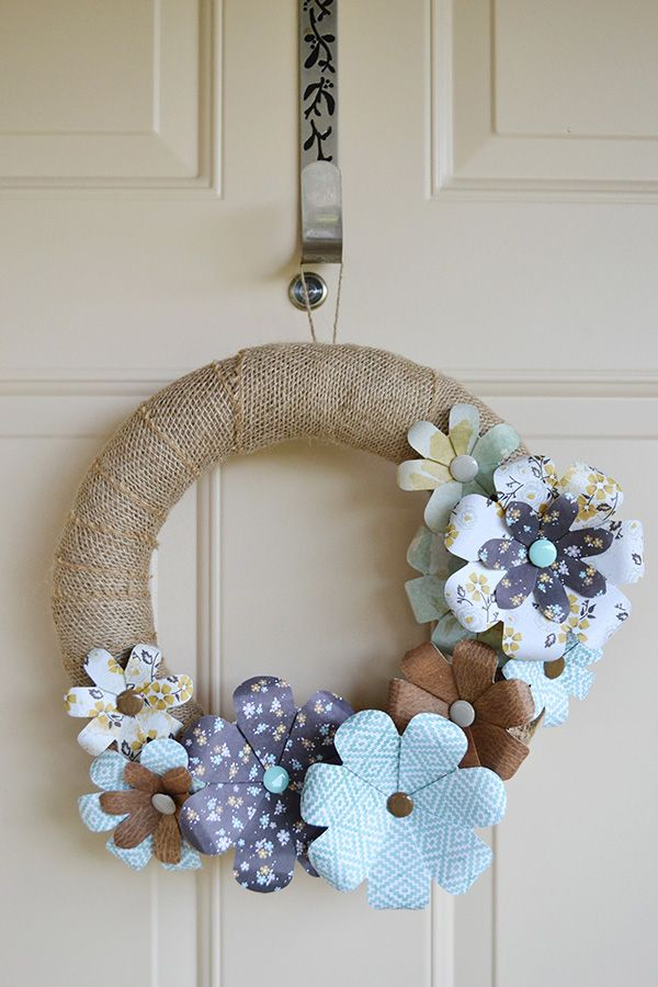 *We R Flower Punch Board Wreath* - Scrapbook.com- homemade paper flowers using the Flower Punch Board by We R Memory Keepers