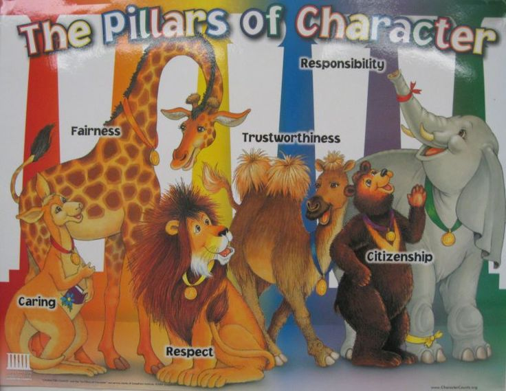 6 pillars of character counts character counts six for Six pillars of character coloring pages