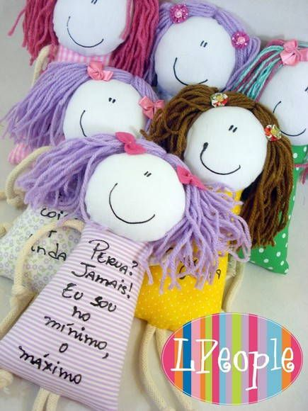 Boneca porta com dizer | LPeople Objetos Decorativos | 17D236 - Elo7