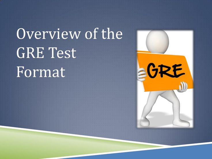 Overview of the #gre test format