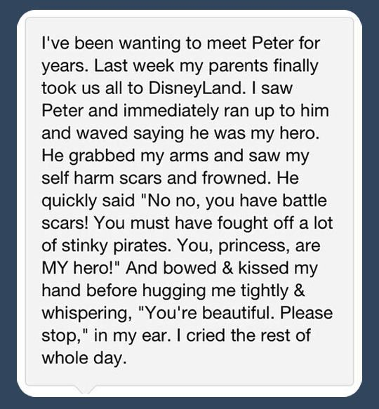 And now I love Peter pan more. If that's even possible.