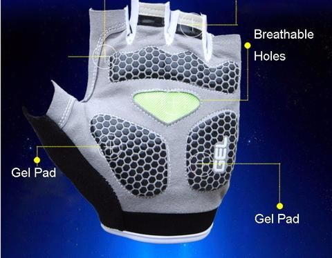 Gel Pad Cycling Glove Half Finger Men Mountain Bike Anti-Slip Breathable Shockproof Cycling Gloves Accessories