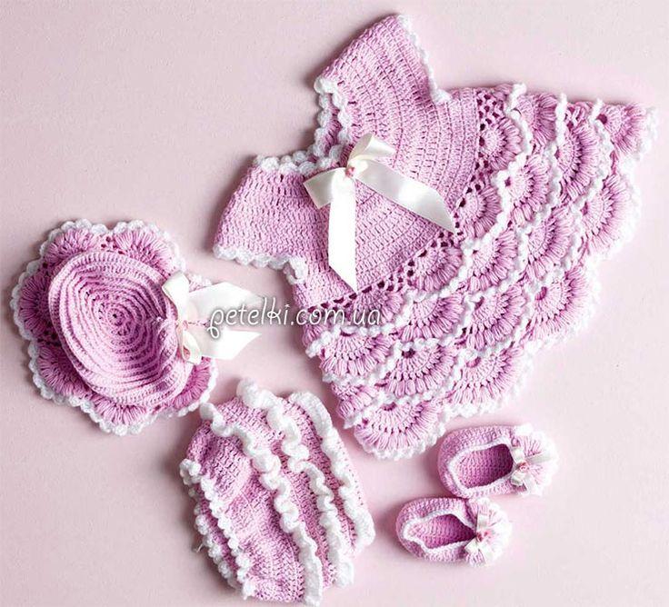 Conjunto crochet elegante para una princesa.  Descripción de tejer