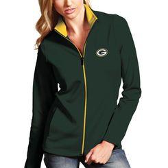 Green Bay Packers Antigua Women's Leader Full Zip Jacket - Green