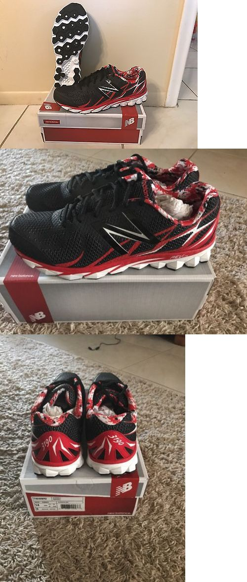 Mens 159059: New Balance Red Black Baseball Turf Shoes T4040br2 Mens Size 14 -> BUY IT NOW ONLY: $65 on eBay!