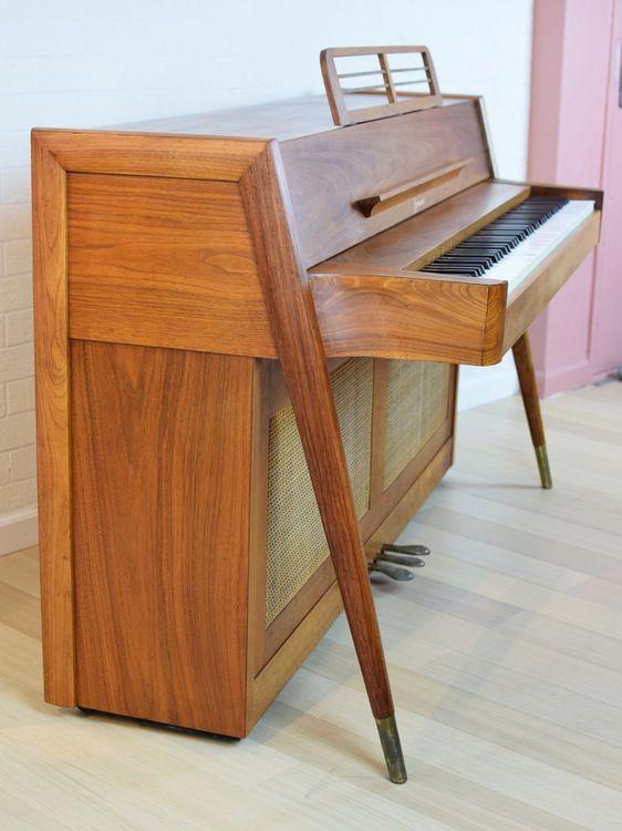 Rare 1960s Danish Mid Century Modern Teak Piano