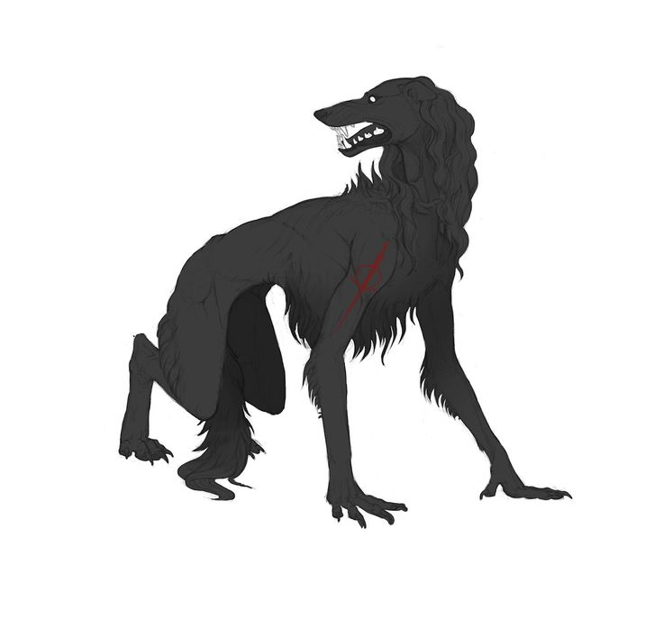 werewolf, art, fantasy art, wow okay this is awesome, very wolfhound-inspired, strongly reminiscent of a borzoi, I LIKE IT, come away o human child,