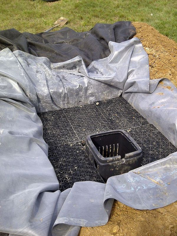 mechanics of a pondless water feature, ponds water features, the guts of a pondless water feature