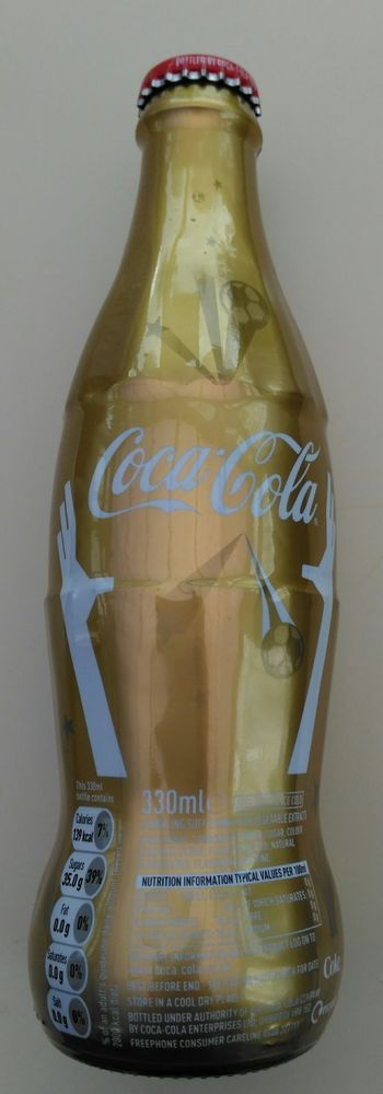 COLLECTABLE COCA COLA 330ML BOTTLE 2010 WORLD CUP UNOPENED  | eBay