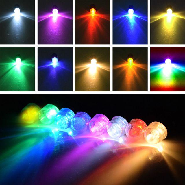 12db Mini Csavar RGB színes LED papír Lámpás kis led léggömb lámpa For Christmas party kellékek esküvői dekoráció
