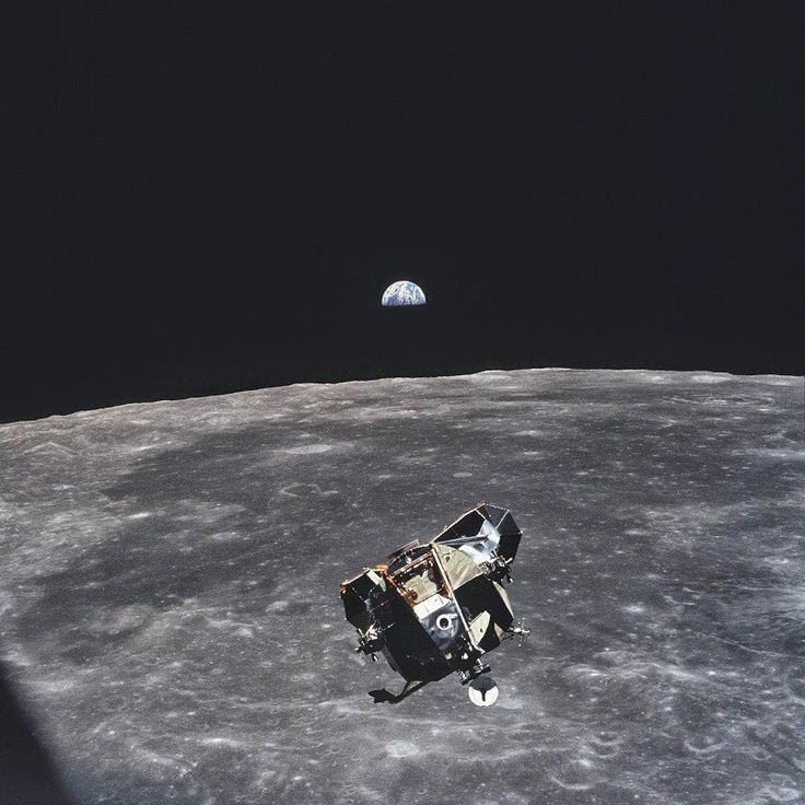 Michael Collins, the astronaut who took this photo, is the only human, alive or dead that isn't in the frame of this picture, 1969.