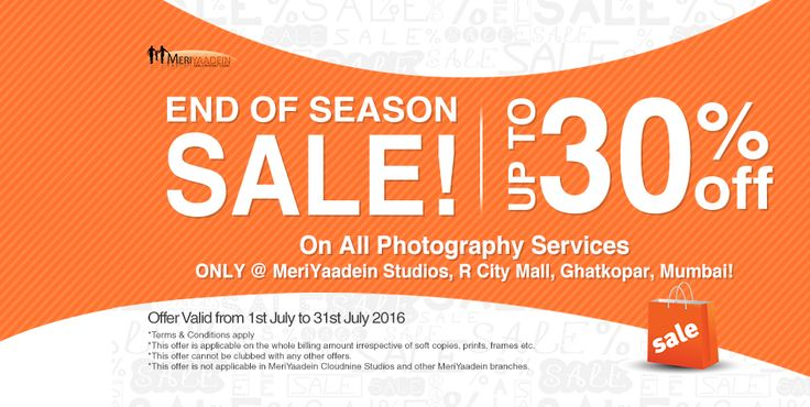 End of Season Sale! Upto 30%* off on Family photography only at MeriYaadein Studios, R City mall, Ghatkopar, Mumbai