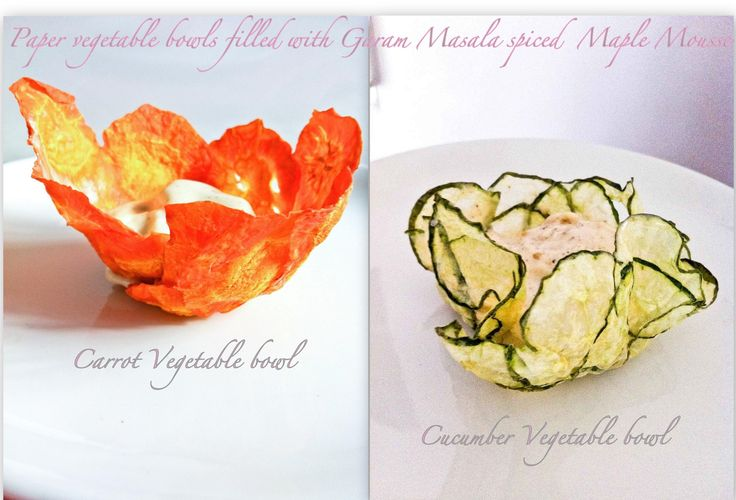 Edible Vegetable Bowls (I really want to try this with sweet potatoes!)