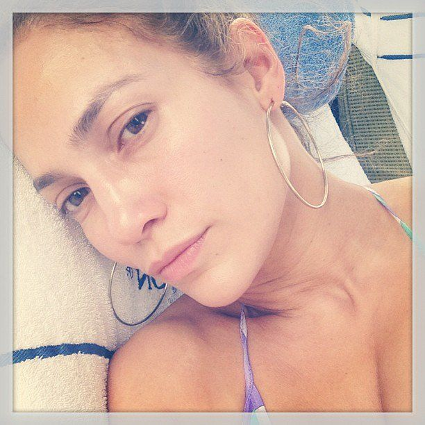 Pin for Later: Jennifer Lopez Has Found the Fountain of Youth at 45 Look at that makeup-free skin! Source: Instagram user jlo
